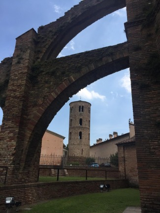Flying buttresses of the Basilica di San Vitale