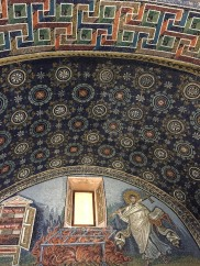 Mosaic of St. Lawrence, star-sky pattern, and the modern art looking patterns