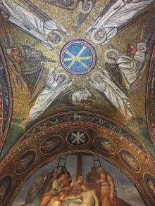 Gilded ceilings at Capella di San Andrea