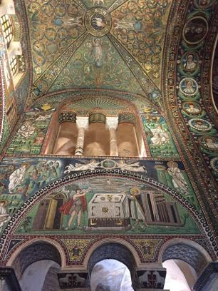 Fully intact biblical scenes in the mosaics, San Vitale