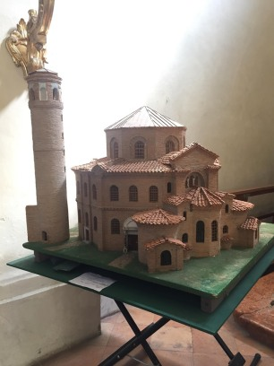Model of San Vitale and its tower