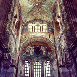 Mosaics of San Vitale, Ravenna built in the 6th century