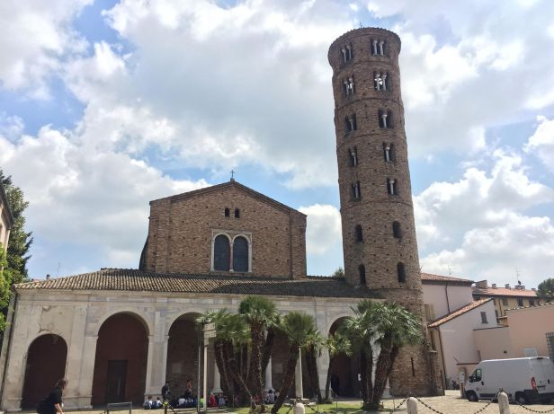 5th century Basilica of Sant'apollinare Nuovo, Ravenna, former palace of the Ostrogoth kings in Ravenna