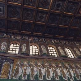 Mosaics at the walls of Sant'Apollinare Nuovo