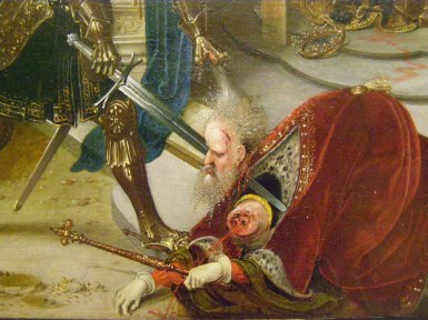 Beheading of King Chosroes II, 628