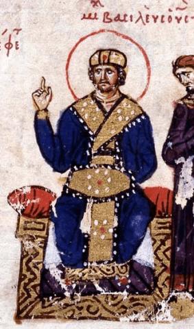 Emperor Michael III (r. 842-867), son of Theophilos and Theodora