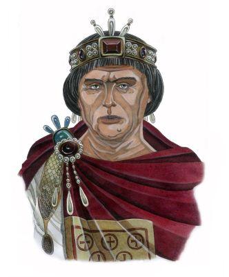 Emperor Anastasius I Dicorus (r. 491-518), 2nd husband of Ariadne