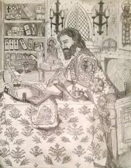 Constantine VII Porphyrogennetos writing DAI