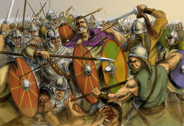 Death of Valens by the Goths at Adrianople, 378
