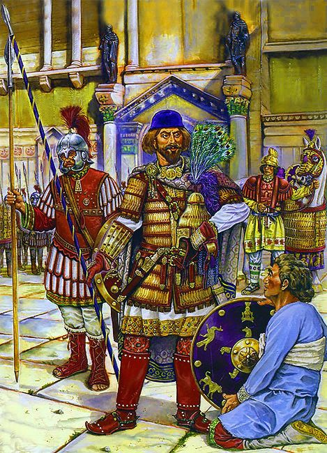 Byzantine Ravenna surrenders to the Lombards, 751