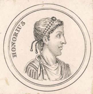 Western Roman Emperor Honorius (r. 395-423), son of Theodosius I