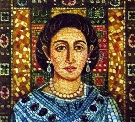 Empress Galla Placidia, daughter of Theodosius I, half-sister of Arcadius and Honorius