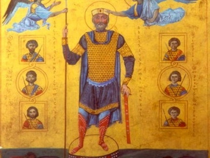 Basil II the Bulgar Slayer in his Menologion