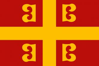 Byzantium war flag (national flag, Palaiologos Dynasty)