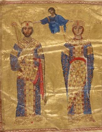 Emperor Nikephoros III Botaneiates (r. 1078-1081) and wife Empress Maria of Alania, former wife of Michael VII
