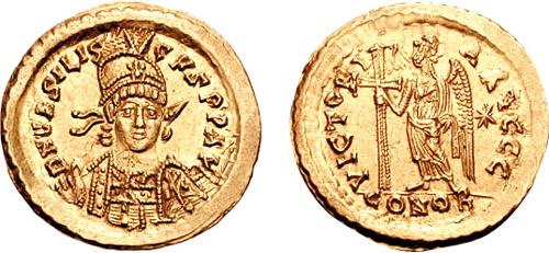 Solidus of Basiliscus (r. 475-476)