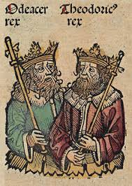 Rulers of Italy from Ravenna- Odoacer (left) and Theodoric the Great (right)