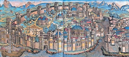 Constantinople depicted by the Latins