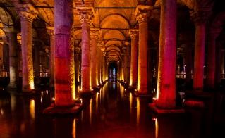 Basilica Cistern near the Hagia Sophia