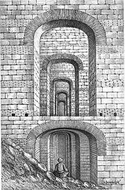 Byzantine Prison of Anemas along the walls