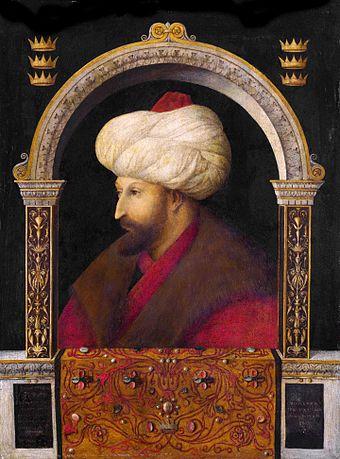 Ottoman Sultan Mehmed II the Conqueror (r. 1451-1481), first Ottoman sultan in Constantinople