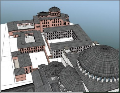 St. Sampson Hospital between the churches of Hagia Sophia and Hagia Eirene