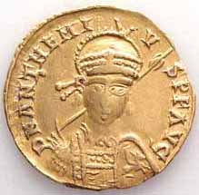 Gold coin of Anthemios of Tralles