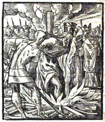 Burning of the Bogomil heresy leader