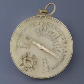 Byzantine sundial with dates and latitudes