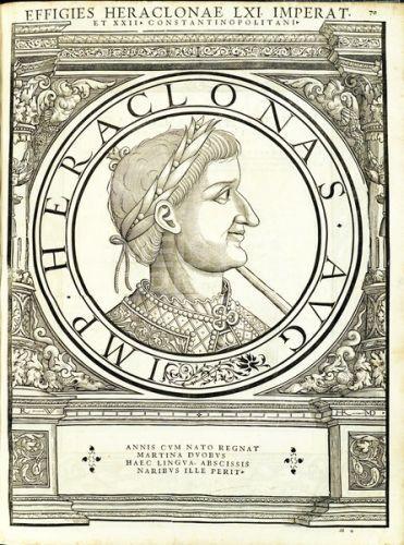 Emperor Heraklonas (641), nose mutilated