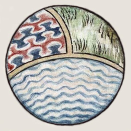 Byzantine depiction of a spherical earth