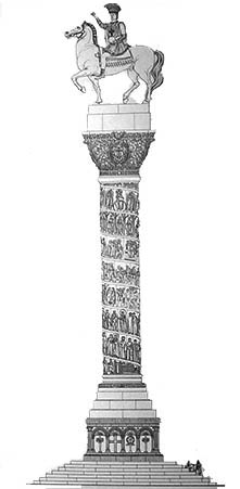 Column with Justinian I's equestrian statue