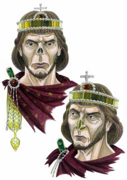 Emperor Justinian II (r. 685-695/ 705-711) with mutilated nose (2nd reign)
