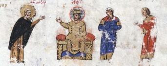 Icon painter Lazarus Zographos before Theophilos
