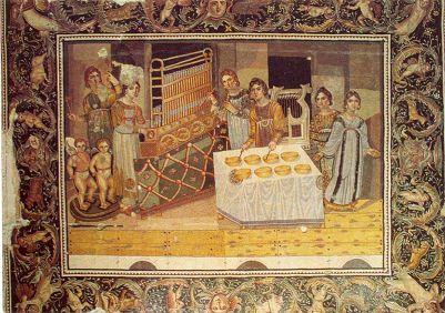 Manuscript depicting Byzantine musical instruments