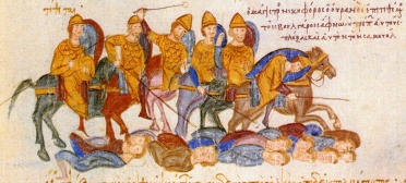 Bulgarians defeated and blinded at the Battle of Kleidion