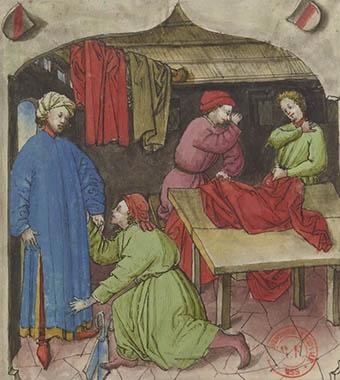 Byzantine merchants/ spies