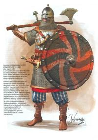 Fully armed and armoured Varangian