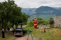 Tightrope walking in Russia