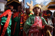 Present day Ethiopians practicing Byzantine Christian traditions