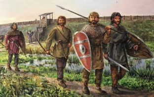 Slavic warriors, 7th century