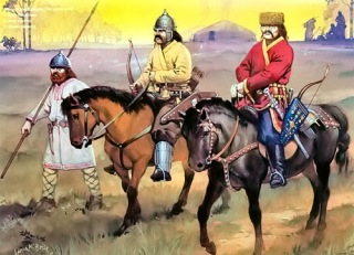 Avar warriors, 7th century
