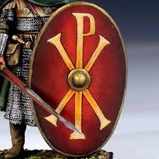 Byzantine shield with the Chi-Rho