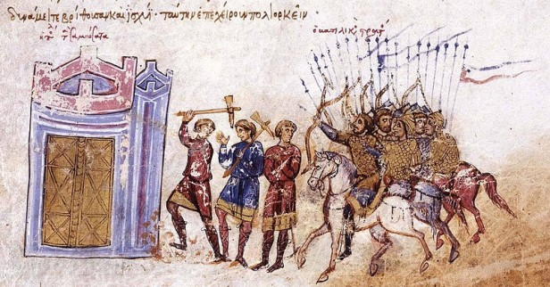 Byzantine Bandon move together during a siege