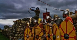 Byzantine soldiers in phalanx formation