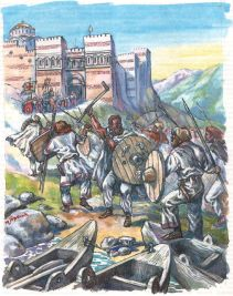 Slavs raid into Byzantine territory, late 6th century