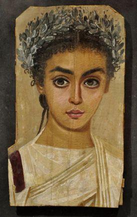 Roman portrait of an Egyptian girl