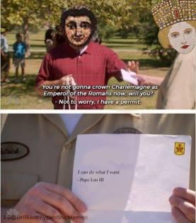 Empress Irene and Charlemagne meme