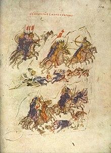 Byzantine illustration of the Pechenegs