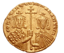 Coin of Constantine VII and his son Romanos II
